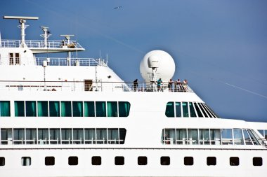 Cruise nautical tourist liner in the by-pass canal of Venice