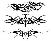 Fotografia set di tatuaggi