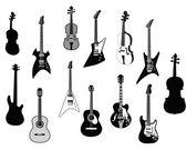 Fotografia sagome di chitarre