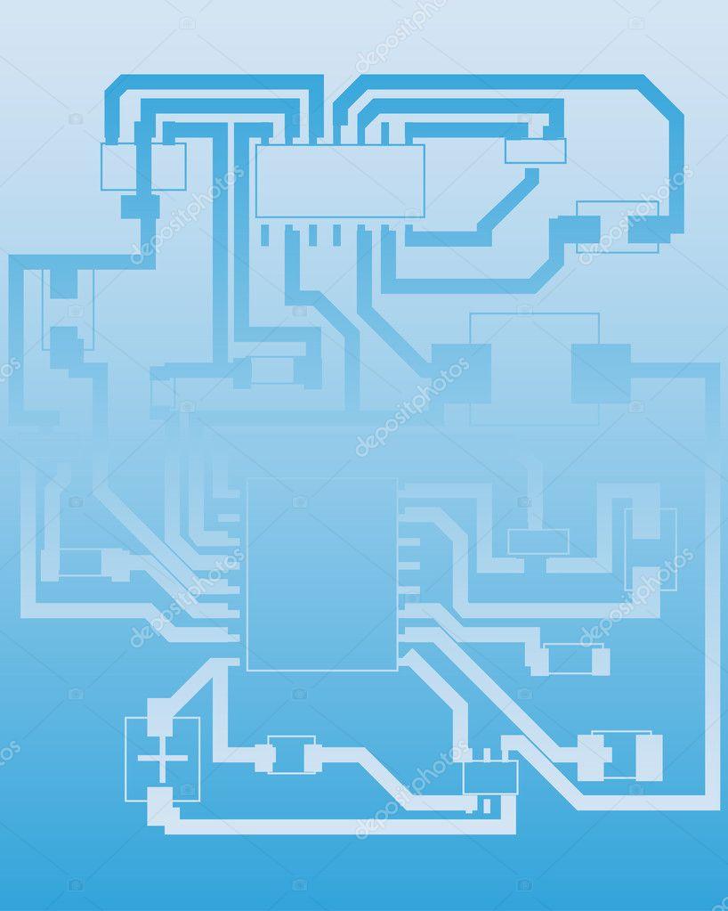 Electrical scheme — Stock Vector © angelp #3652096