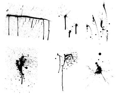 Grunge vector background set