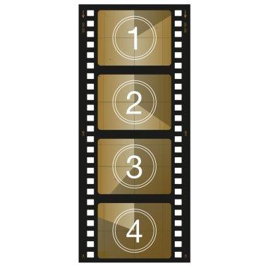 Filmstrip illustration  icon