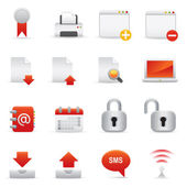 Webové stránky  ikony Internet | Červené Serie 02
