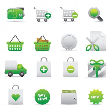 Shopping Icons | Green 13