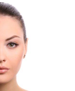 Half of female face