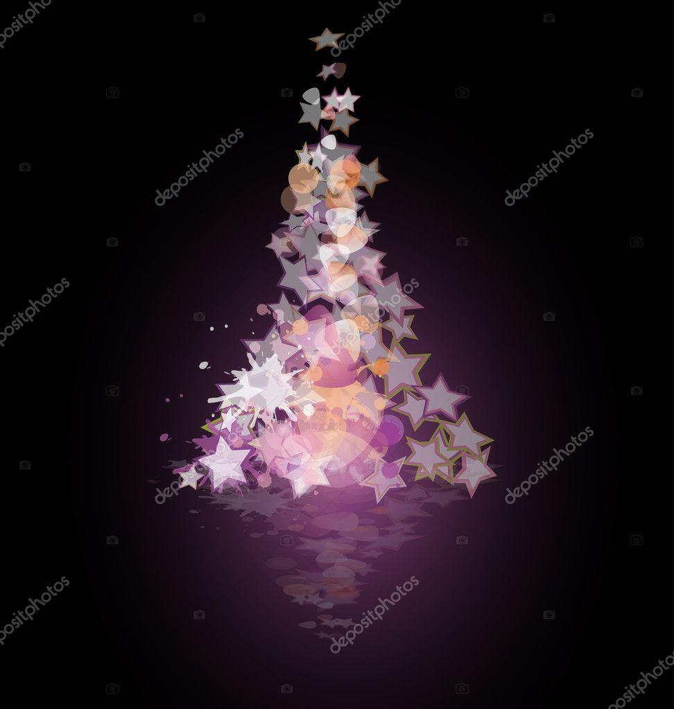Immagini Natalizie Stilizzate.Illustrazione Stelle Natalizie Stilizzate Albero Di Natale