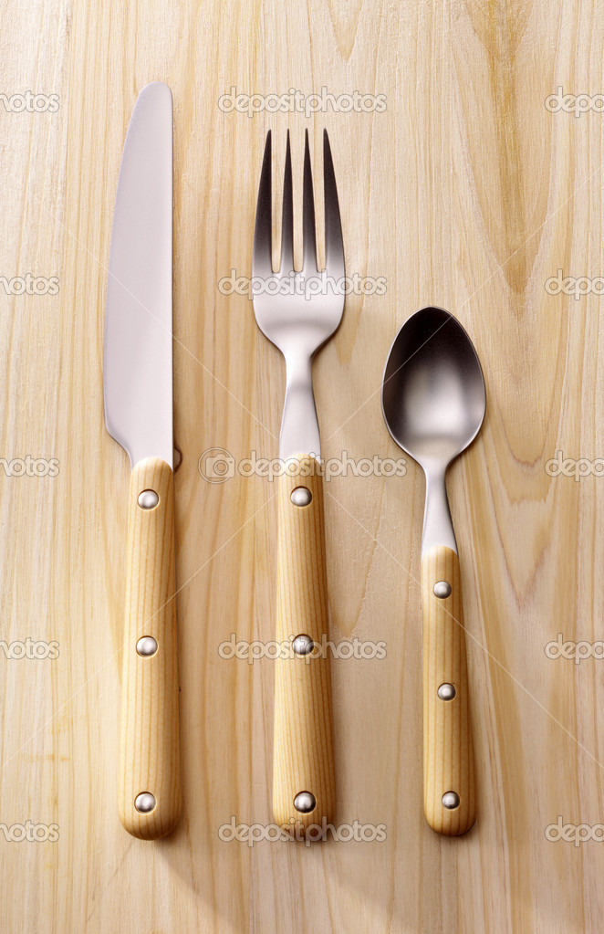 Cutlery on wood#2