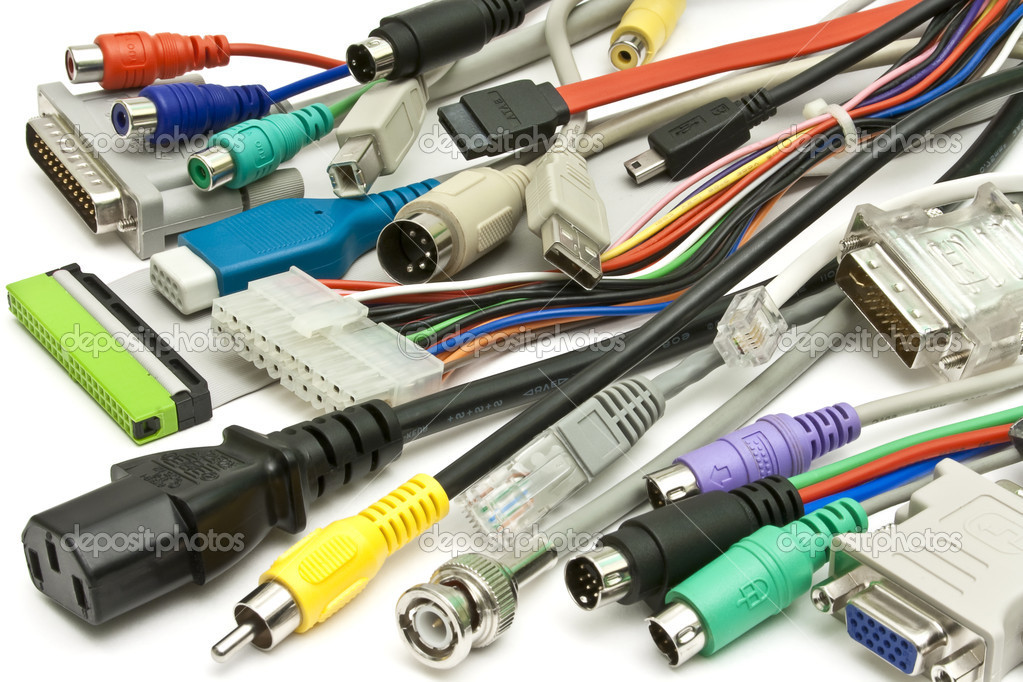 Computer Wire Connectors : Computer wire and connectors — stock photo aladdin