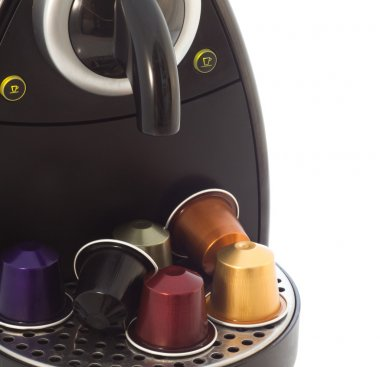 Coffee capsules and a coffee machine