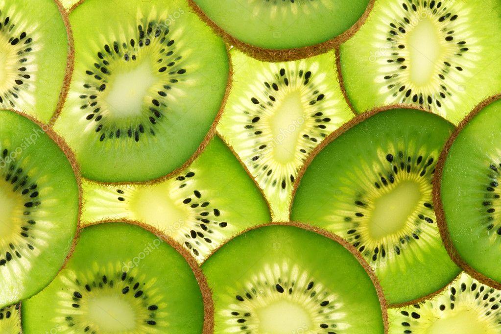 Rug geprojecteerd (verlicht) kruissecties voor kiwi — Stockfoto ...