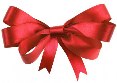 Bow, made of blue silk ribbon