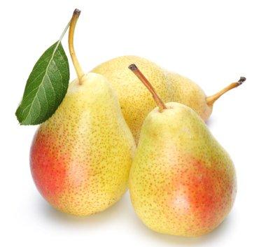 Three ripe pears.