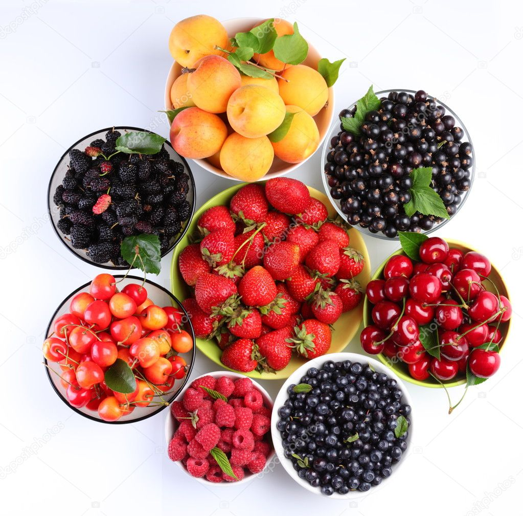 Summer wealth. Variety of berries.