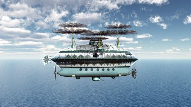 Airship over the Ocean