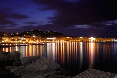The city of Cannes, France, at night