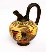 Jug with a picture of ancient Greek god of wine Dionysus