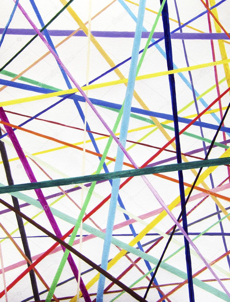 Straight Line Intro The Art Of Closing : Color lines variety background watercolor painting — stock