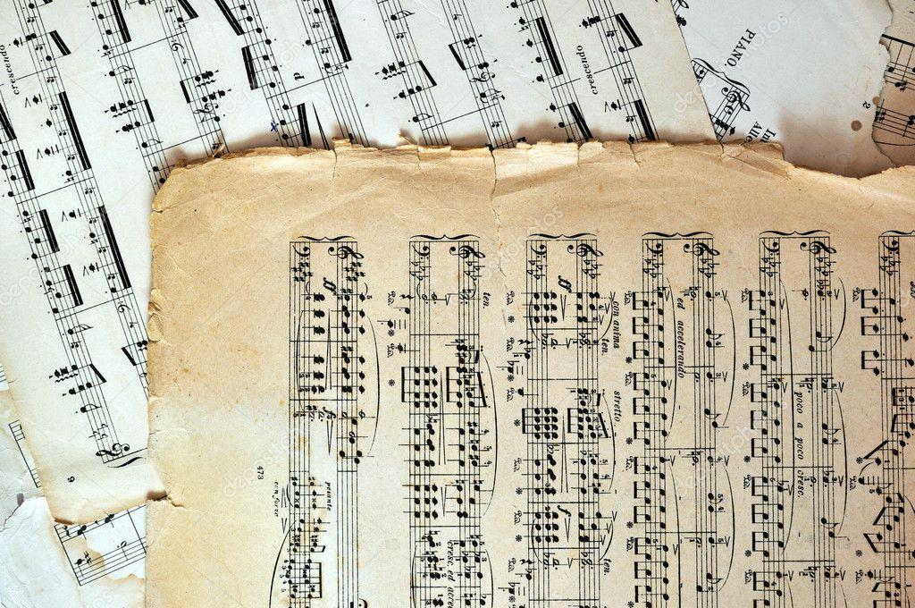 páginas de hoja de música vieja - fondo de arte — Foto de stock ...