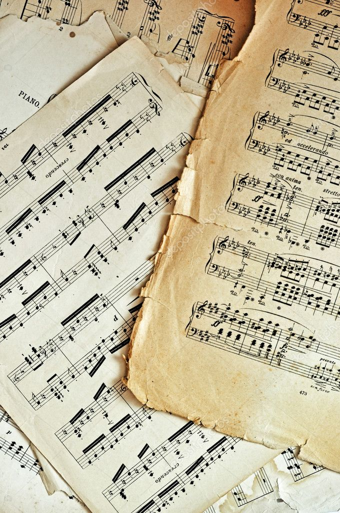 old music sheet pages background stock photo 3772491