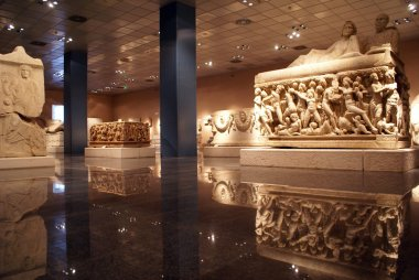 Inside Antalya museum, Turkey