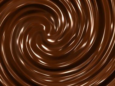 Chocolate cream background