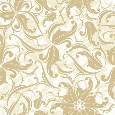 Seamless floral texture, this illustration may be useful as designer work stock vector
