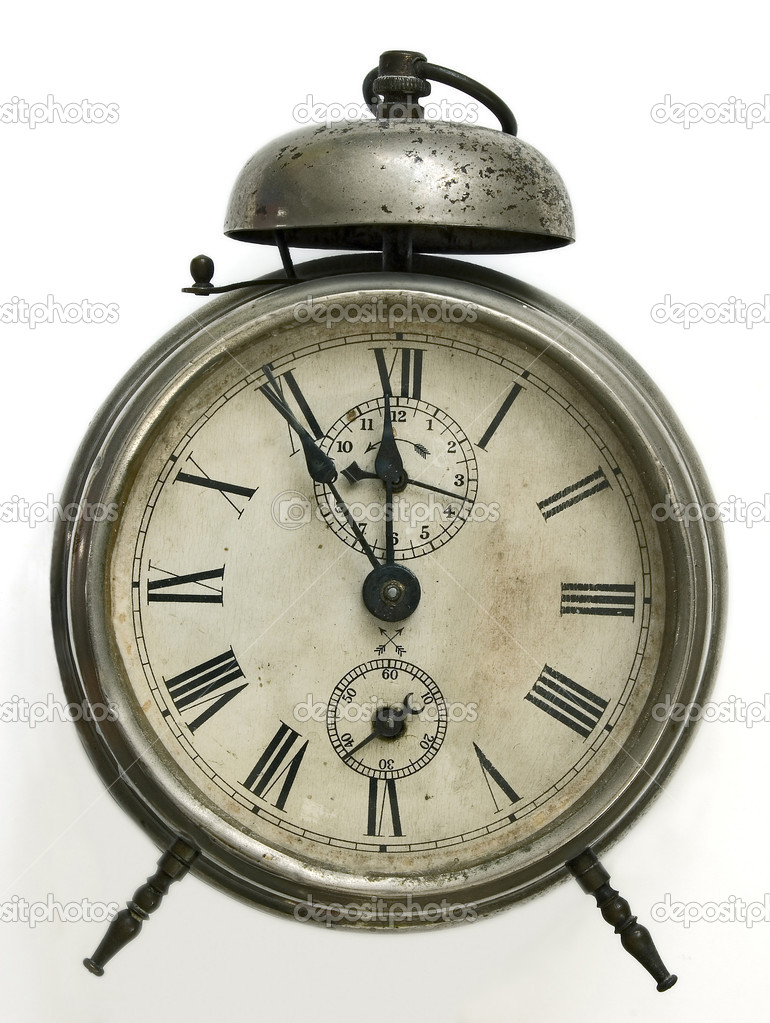vintage alarm clock u2014 stock photo