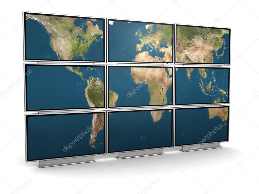 Tv In Muur : Tv muur u stockfoto mmaxer