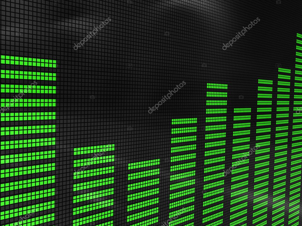 Abstract 3d Illustration Of Sound Spectrum Analyzer Display Photo By Mmaxer Find Similar Images