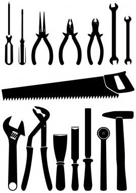 Vector Illustration Set Of 15 Different Tools