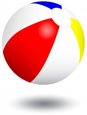 Inflatable beach ball vector illustration.