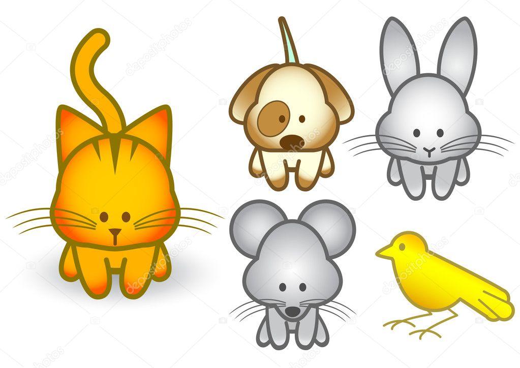 Imagenes Animados Faciles Con Color Vector Ilustracion Conjunto