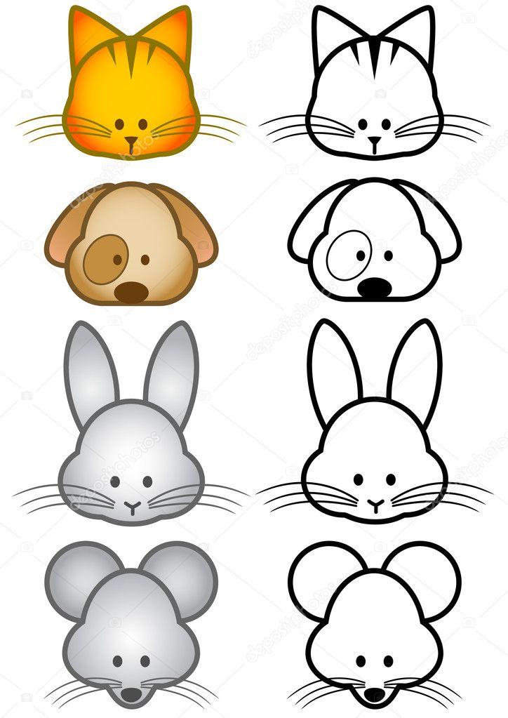 Vector Ilustracion Conjunto De Animales De Compania De Dibujos