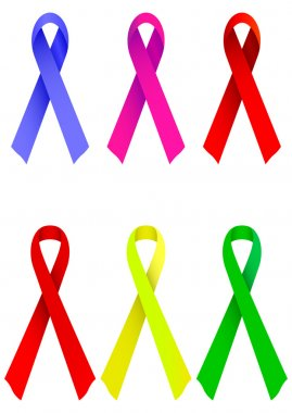 Symbol or award ribbon vector illustration.
