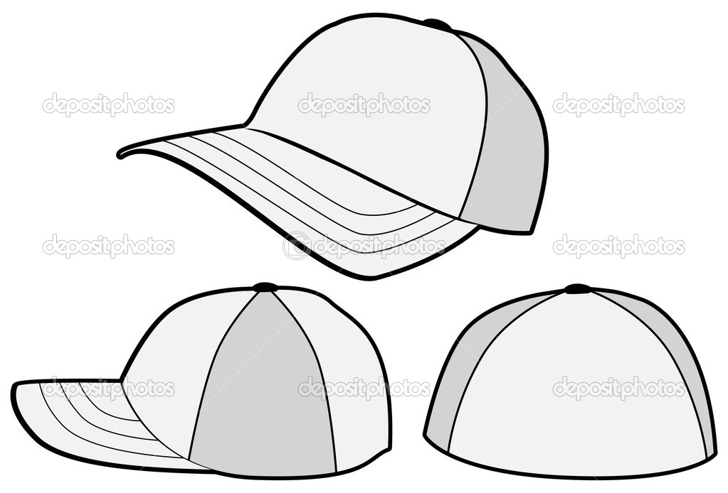 Baseball-Hut oder Mütze-Vektor-Vorlage — Stockvektor © bytedust #3530298