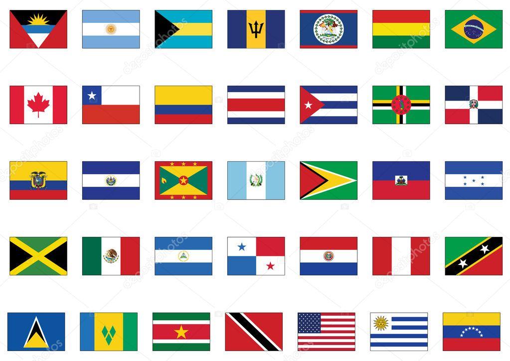 vector bandera conjunto de los pa u00edses de am u00e9rica vector Black and White Bee Vector Bee SVG