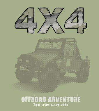 Off-road 4x4 car