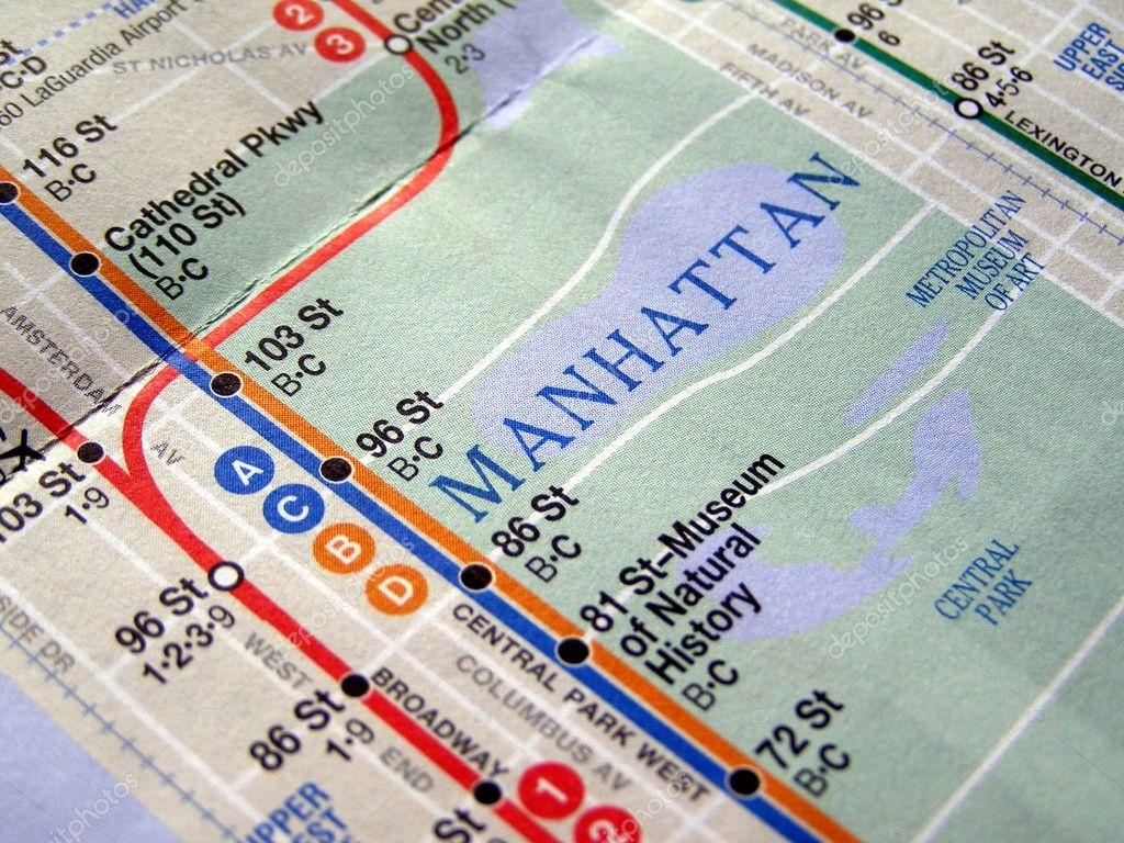 U Bahn Karte New York.New York U Bahn Plan Stockfoto Claudiodivizia 3534909