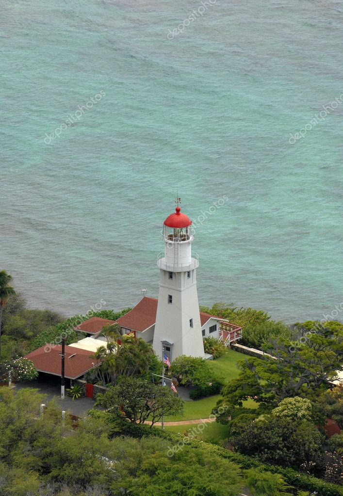 white lighthouse tower