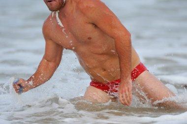 male triathlon athlete