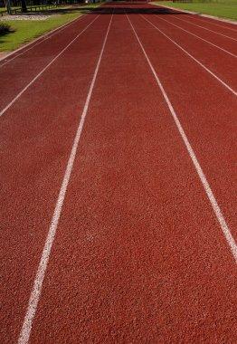 empty  athletics track