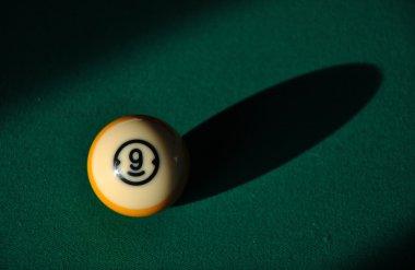 nine ball at pool table