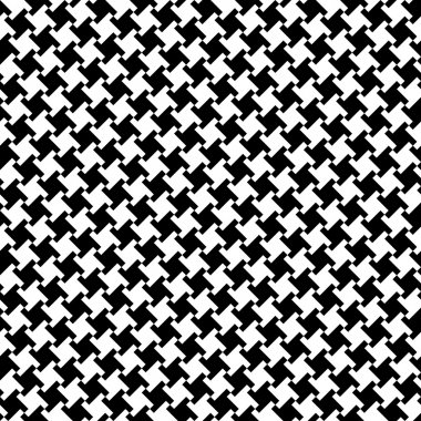 A Different Houndstooth in Black and White