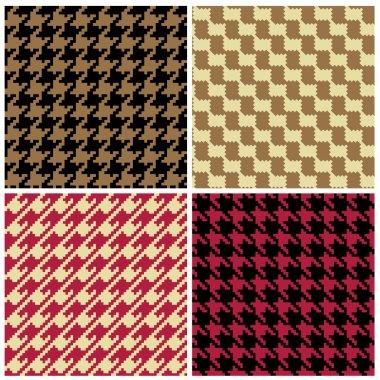 Pixel Houndstooth Patterns
