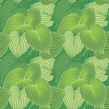 Hosta Leaf Pattern_Green