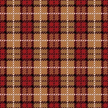 Pixel Plaid in Red and Gold