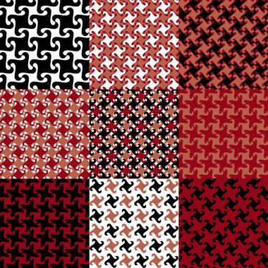 Swirly Patterns in Red and Black
