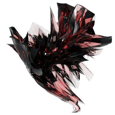 Isolated beautiful crystal