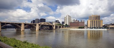 Panoramic Grand Rapids, Michigan, USA.