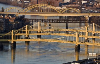Bridges in Downtown Pittsburgh